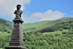 Saint-Jacques-des-Blats (Cantal), the memorial Royalty Free Stock Image