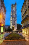 Saint Jacques Tower in Paris, France. Night view
