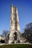 Saint-Jacques Tower on Rivoli street in Paris, France Stock Image