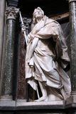 Saint James the Apostle. Interior view of Lateran Basilica with Saint James Greater the Apostle statue in Rome. Famous baroque landmark was first consecrated in Royalty Free Stock Photo