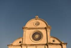 Saint James Cathedral em Sibenik, Croácia foto de stock royalty free