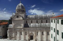 St. James Cathedral in Åibenik, Croatia stock image