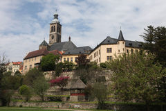 Saint James Church and Italian Court in Kutna Hora Stock Images
