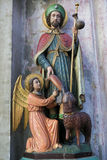Saint James the Greater - Statue in Mechelen Cathedral. Statue of Saint James the Greater, in the Cathedral of Mechelen, Flanders, Belgium royalty free stock photos