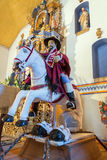 Saint James Matamoros. Statue of Saint James the Moor Slayer in an old historic chapel in rural Bolivia stock photos