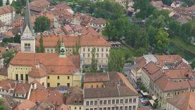 Saint James Parish Church in Ljubljana, Slovenian landmark, travel to Europe. Stock footage stock video footage