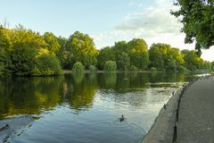 Saint James Park. In London on a summer evening stock photography