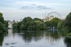 Saint James Park. In London on a summer evening royalty free stock photo