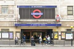 Saint James Park Station - London Stock Images