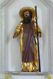 Saint James. Statue on church altar stock images