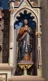 Saint James. Statue on the main altar in the church of Saint Matthew in Stitar, Croatia royalty free stock image