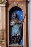 Saint James. Statue in the Parish Church of Saint Martin in Scitarjevo, Croatia stock photos