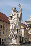 Saint James. Statue, Plague column at Main Square of the city of Maribor in Slovenia, Europe. Historical religious sculpture royalty free stock photo
