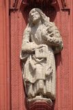 Saint James the Less. Statue on the portal of the Marienkapelle in Wurzburg, Bavaria, Germany royalty free stock photography