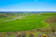 Saint James way from Atapuerca cross to Burgos Royalty Free Stock Photos