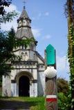 Saint Jaque de Compostelle way Stock Photo