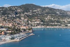 Roadstead of Villefranche-sur-mer, French Riviera Royalty Free Stock Photos