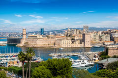 Saint Jean Castle and Cathedral de la Major  in Marseille Stock Images