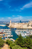 Saint Jean Castle and Cathedral de la Major  in Marseille Royalty Free Stock Photography