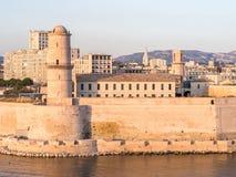 Saint Jean Castle dans le port de Vieux, Marseille, France photographie stock