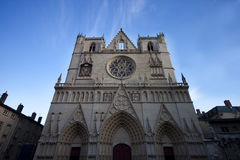 Saint Jean cathedral. In Lyon city, France stock photography