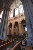 Saint Jean Cathedral inside, Lyon. France Royalty Free Stock Image