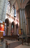 Saint Jean Cathedral inside, Lyon. France Royalty Free Stock Images