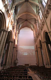 Saint Jean Cathedral inside, Lyon. France Stock Photography
