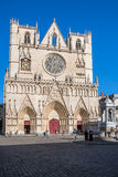 Saint Jean cathedral in Lyon, France Royalty Free Stock Photos