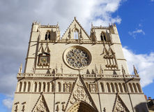 Saint Jean Cathedral in Lyon, France Stock Image
