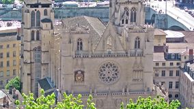 Saint Jean Cathedral in Lyon, France Stock Photo