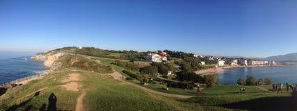 Saint Jean de Luz. Panoramic view of Saint Jean de la Luz in the basque country Stock Image