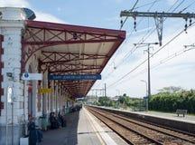 Saint Jean de Luz - Ciboure train station. Aquitaine, France. Royalty Free Stock Photos