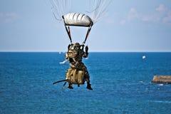 Saint-Jean-de-Luz, France, October 3, 2015 The parachutist of Fr Stock Image