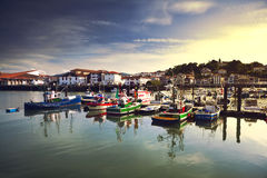 Saint Jean de Luz harbor in France Royalty Free Stock Photography