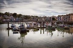Saint Jean de Luz harbor in France. Saint Jean de Luz harbor in Pays Basque, France royalty free stock photography