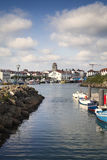 Saint Jean de Luz harbor in Pays Basque, France Royalty Free Stock Photography