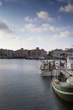 Saint Jean de Luz harbor in Pays Basque, France Stock Photo
