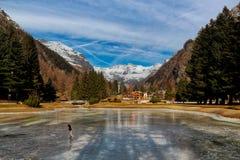 Saint Jean Italy de Gover Gressoney do lago fotos de stock