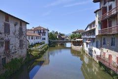Saint-Jean-Pie-De-port dans les Frances Photos libres de droits