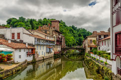 Saint-Jean-Pied-de-Port in the Basque region of France. Stock Images