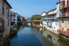 Saint-Jean-Pied-de-Port. The river Nive in Saint-Jean-Pied-de-Port, France Royalty Free Stock Image