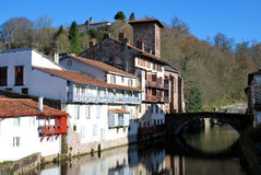 The Saint-Jean-Pied-de-Port village Royalty Free Stock Photography