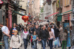 Saint Jean Street in Lyon, France Stock Photography