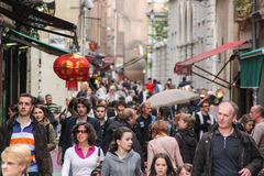 Saint Jean Street in Lyon, France Stock Images