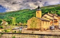Saint Jerome church in Ax-les-Thermes - France stock photos
