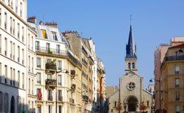 Saint Joan of Arc church. In Paris Stock Photo