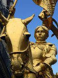 Saint Joan of Arc, France. Statue of Saint Joan of Arc in Paris, France (known as the Maid of Orleans Royalty Free Stock Photo
