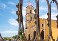 Saint John the Baptist Catholic Church in Remedios,Cuba Royalty Free Stock Image