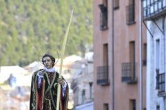 Saint John Baptist et semaine sainte, province de Cuenca images stock